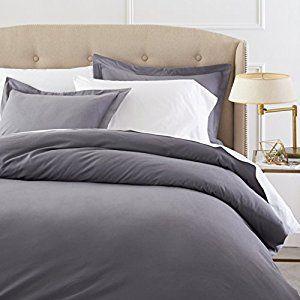 Pinzon Heavyweight Cotton Flannel Duvet Set - Full/Queen, Graphite -   - http://homesegment.com/home-kitchen/pinzon-heavyweight-cotton-flannel-duvet-set-fullqueen-graphite-com/