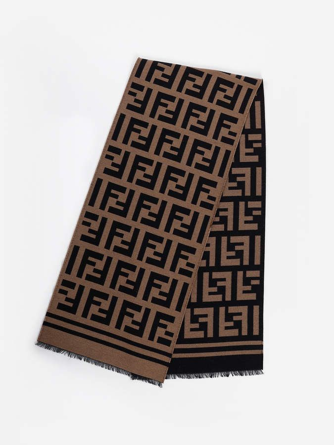 dfbe2d716c9 Fendi Scarves Fendi Scarf, Monogram Logo, Wool Scarf, Print Patterns,  Scarves,