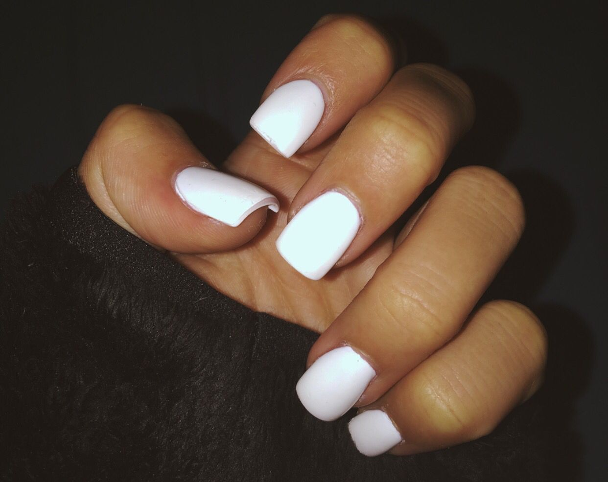 All White Acrylics White Gel Nails Spring Acrylic Nails Square Acrylic Nails