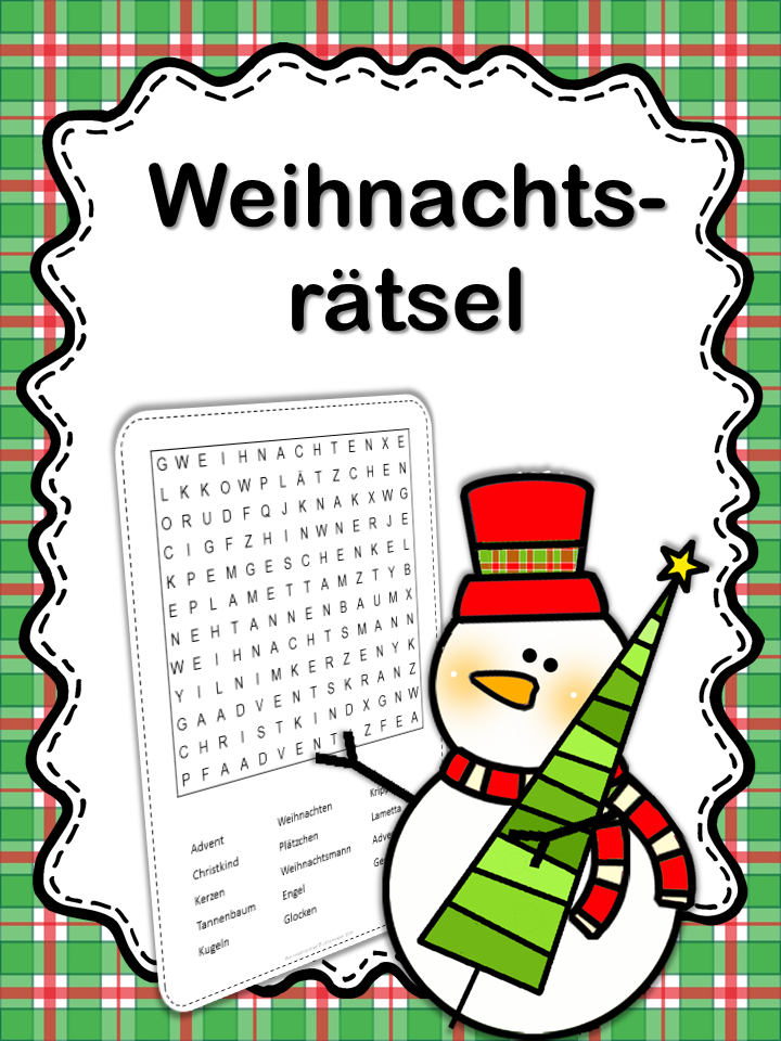 free word search puzzle in german frohe weihnachten. Black Bedroom Furniture Sets. Home Design Ideas