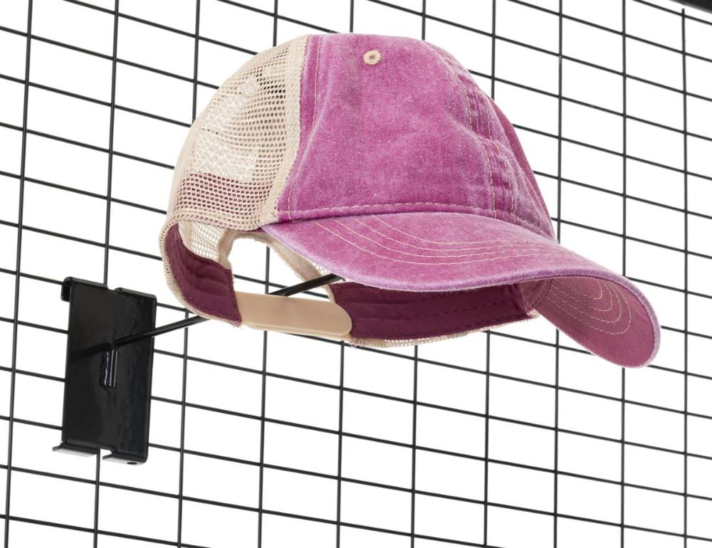 Black Gridwall Hat Rack Set Of Four Hat Display Hat Rack Grid Panel