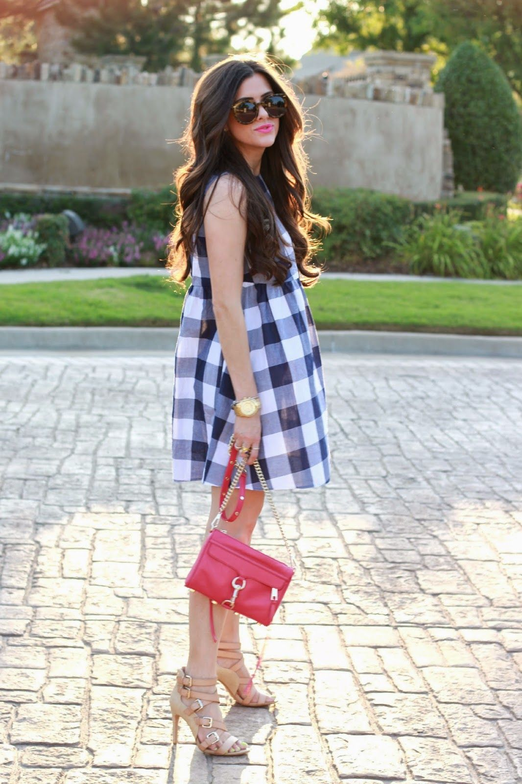 Gingham + red.