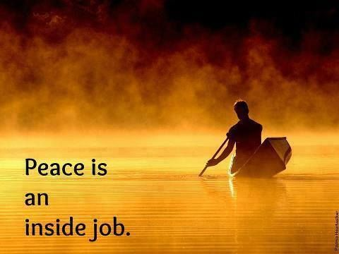 Peace is an inside job. | Boat wallpaper, Biblical verses, Native ...