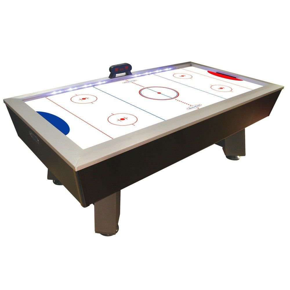 Dmi Sports Ht600 Blaze Full Length Interactive Lighted Rail Air Hockey Table 7 1 2 Looks Heavy 619 Air Hockey Table Game Room Tables Air Hockey