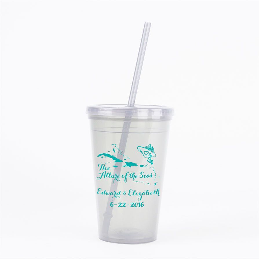 Wedding Favors Cruise Wedding 30 Personalized 16oz Double Wall ...