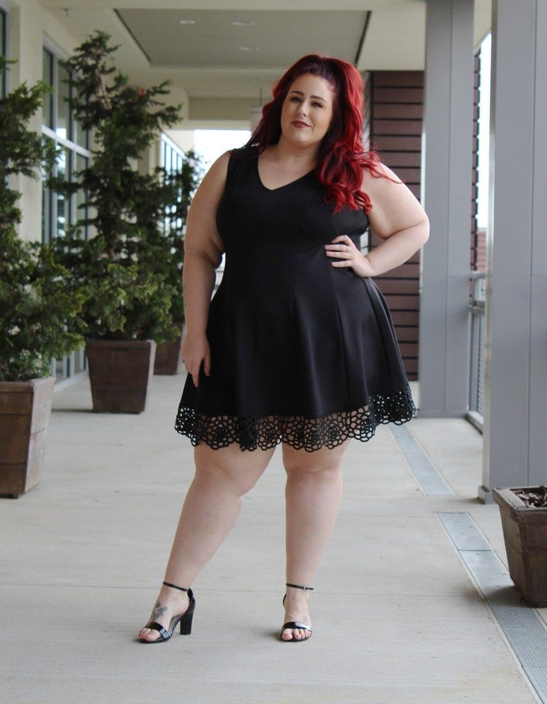 I Would Just Be So Proud To Be Seen Out With Megan In This Lovely Lbd As Usual She Brings It Off Plus Size Black Dresses Plus Size Costume Plus