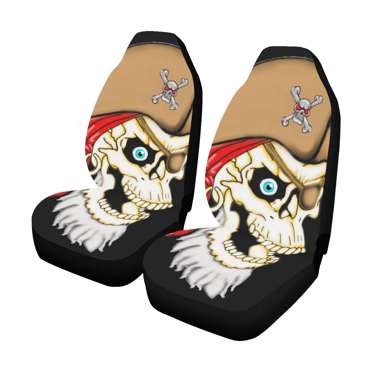 Pirate Sugar Skull Car Seat Covers Set Of 2