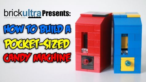 LEGO Working Candy Machine | Legos, Candy dispenser and Lego brick