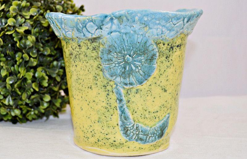 Übertopf Keramik Türkis blumentopf, Übertopf, keramik, türkis, grün