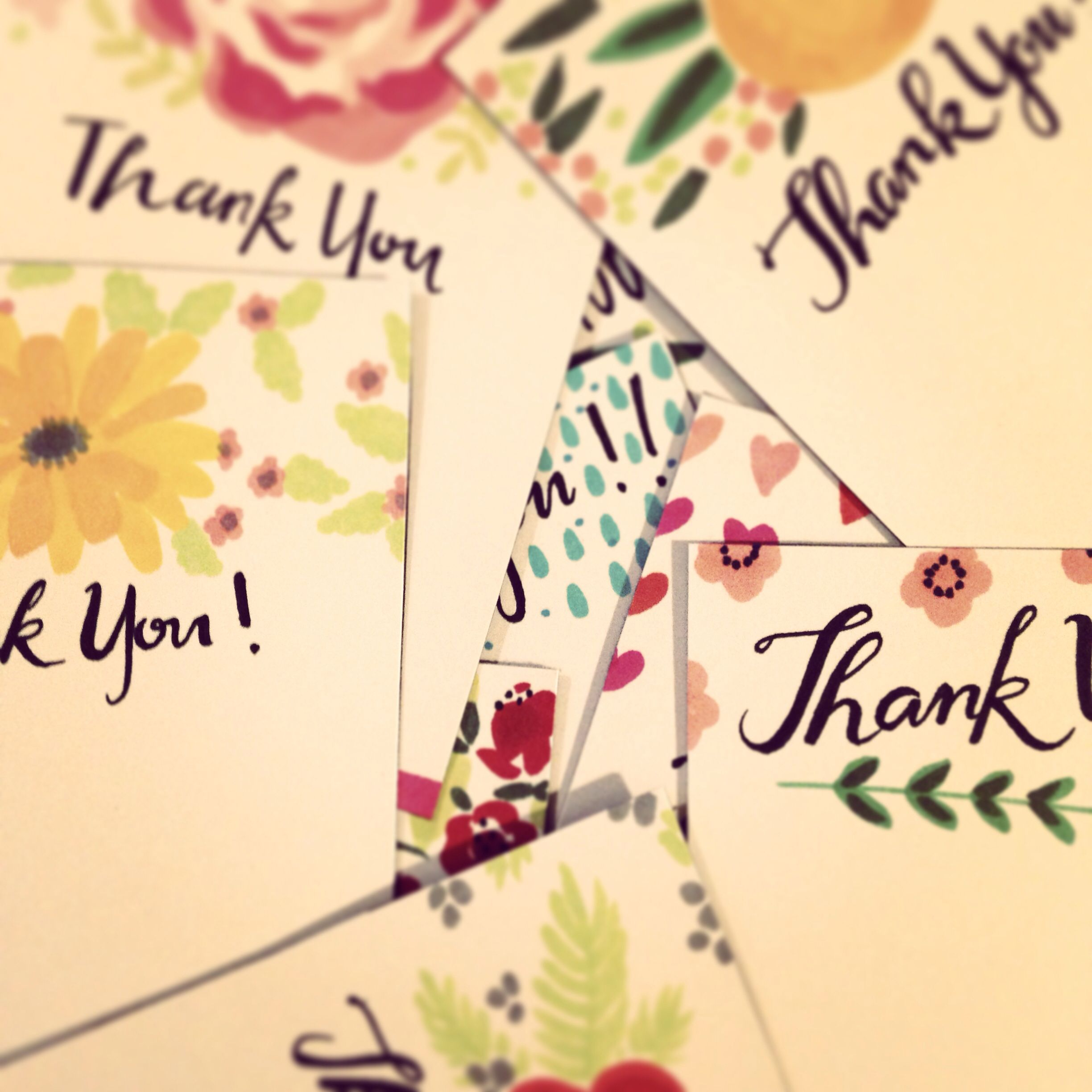 Thank You Cards For Customers Hand Made Ink Thankyou