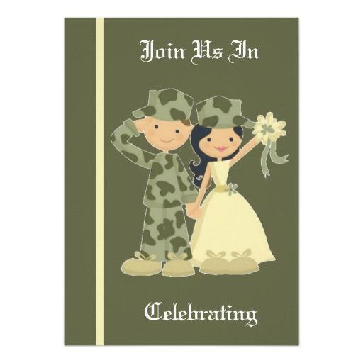 Army Wedding Invitation