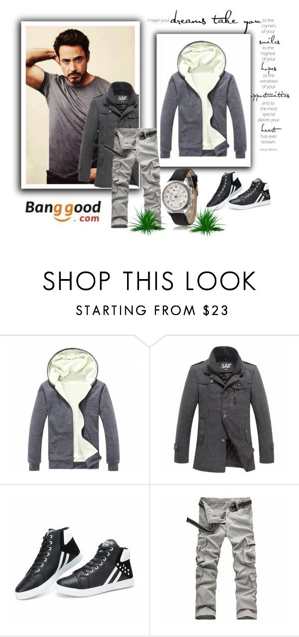 """I hope your dreams take you to Banggood :)"" by glosaryy ❤ liked on Polyvore featuring outfits, BangGood and man"