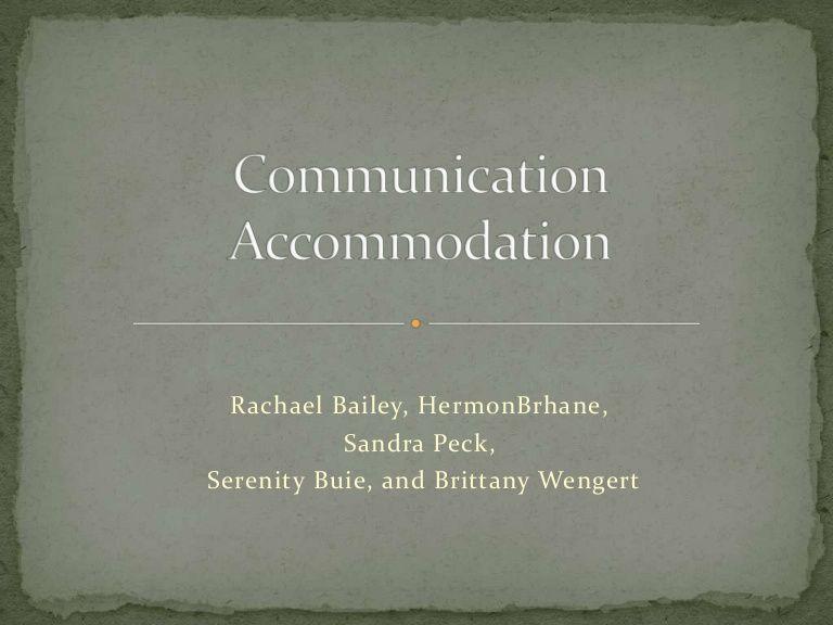 Communication Accommodation Theory | Intercultural