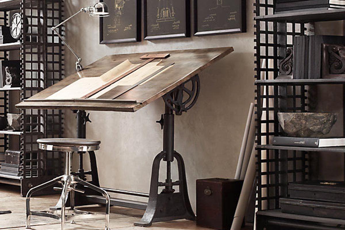 Vintage architect desk. www.uniquefinds.co.uk Industrialfurniture ...