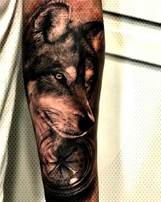 Wolf Tattoo Models für Männer - Tattoos für Männer +100 Best Men Tattoo Models ..... Wolf Tatt