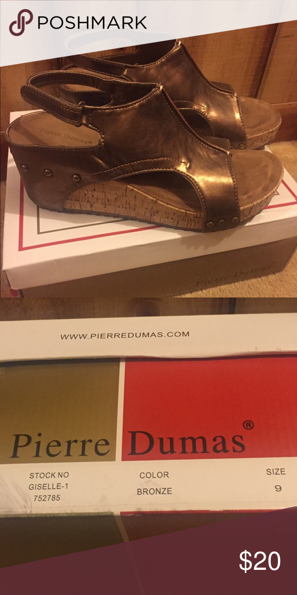 1a1941c2a65b Women s Pierre Dumas Giselle Wedge Sandal Prepare to flash a fresh pedicure  with this chic peep