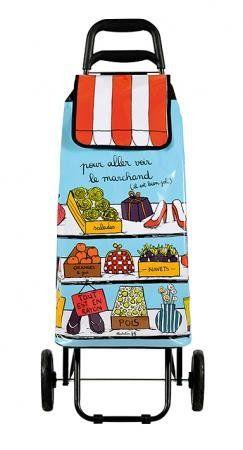 Derriere La Porte Shopping Trolley Marchand Sac A Roulettes Courses Sac De Cours