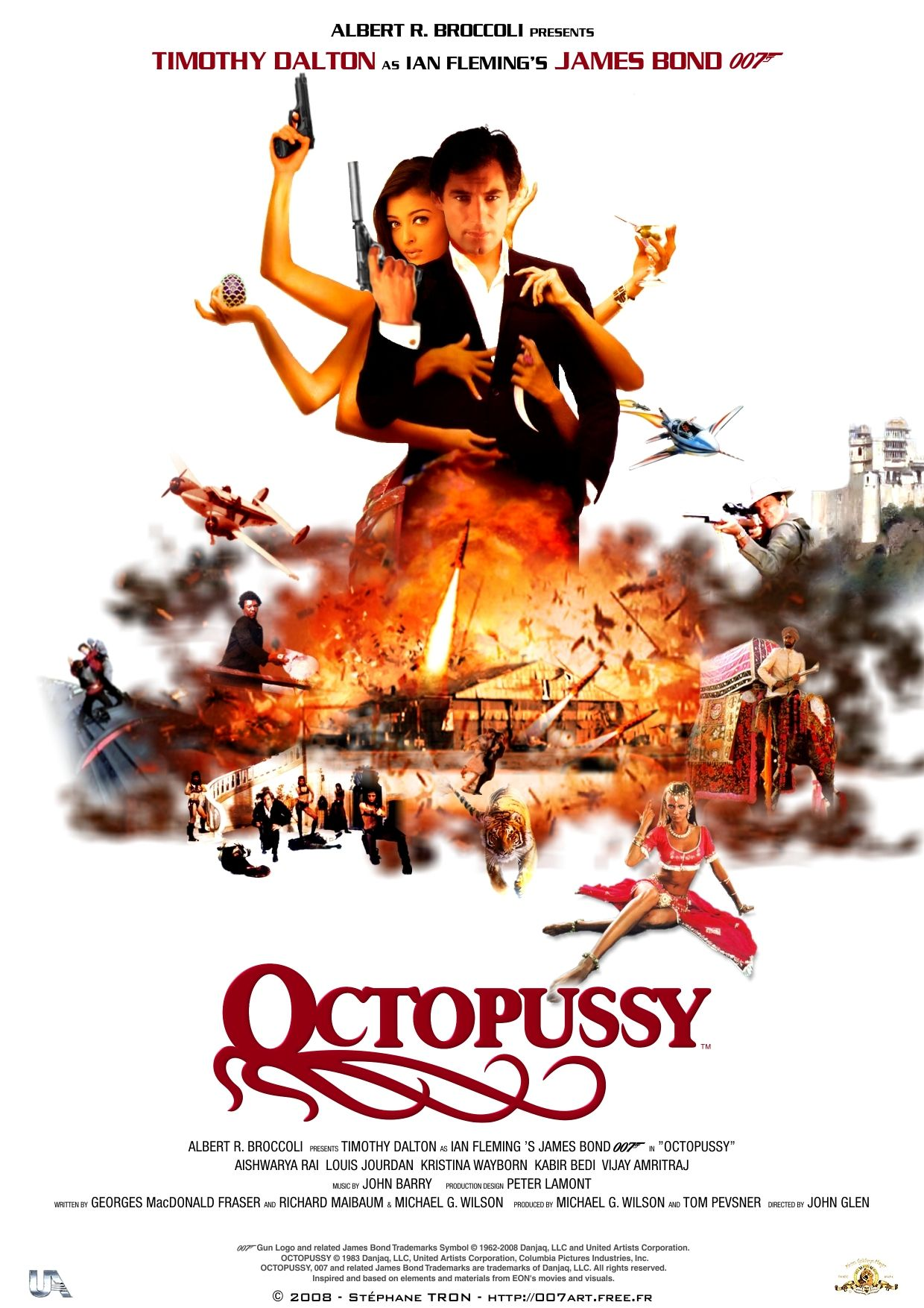octopussy poster 1 james bond 007 pinterest