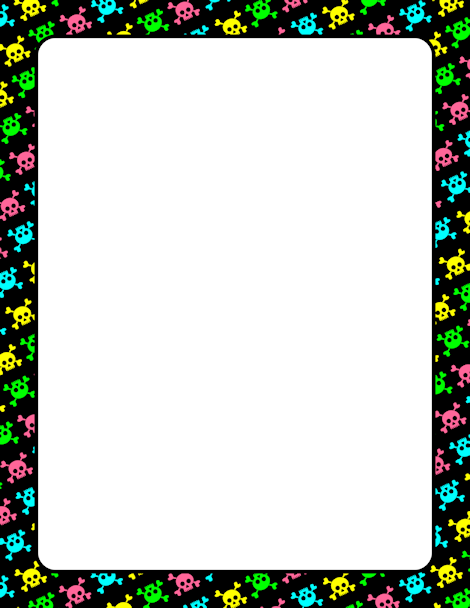 Skull and crossbones page border. Free downloads at http ...