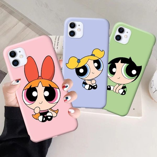 Cartoon Powerpuff Girl Candy Pink Cutie Phone Case for iPhone 11 iPhon