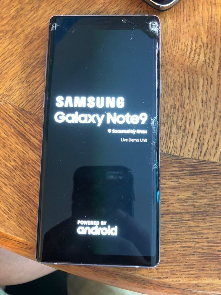 Hi This Is Samsung Galaxy Note 9 Live Demo Retail Unit Its Work But Front And Back Screen Are Broke As Seen In Pict Samsung Galaxy Samsung Samsung Galaxy Note