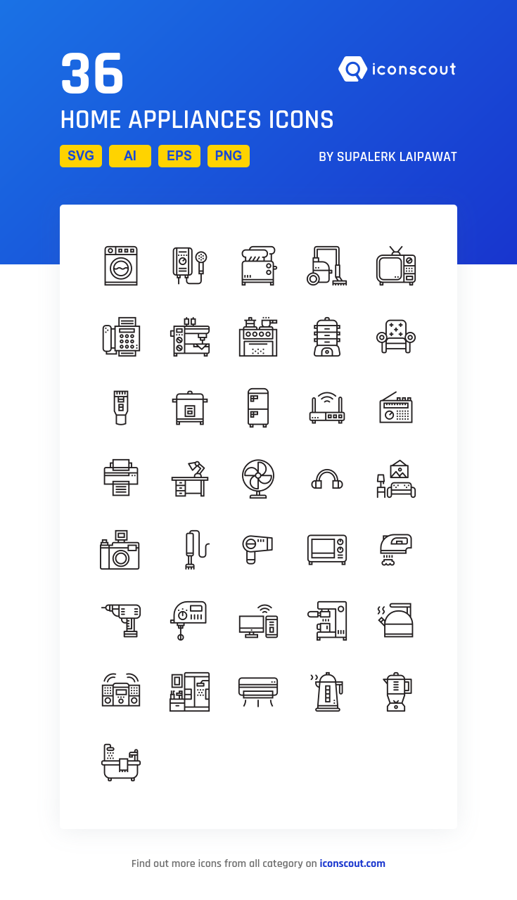 Download Home Appliances Icon Pack Available In Svg Png Eps Ai Icon Fonts Home Appliances Vintage Appliances Cleaning Baking Sheets