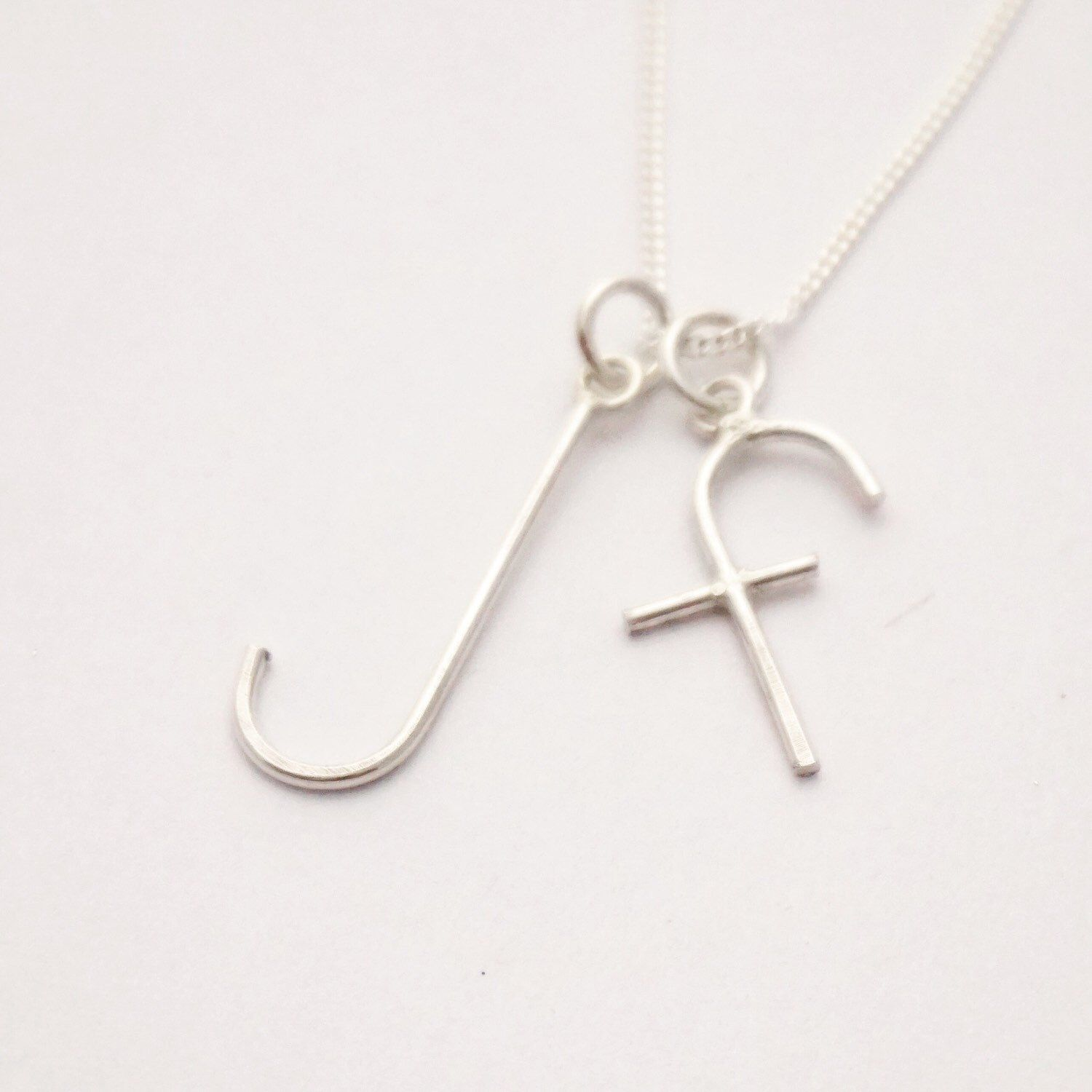 ALPHABET sterling silver necklace or pendant by STICKTAILS