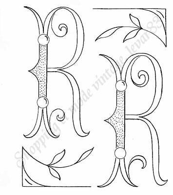 alphabet 26 lettres BRODERIE ANCIENNE voir phot MONOGRAMMES combinables Ac1