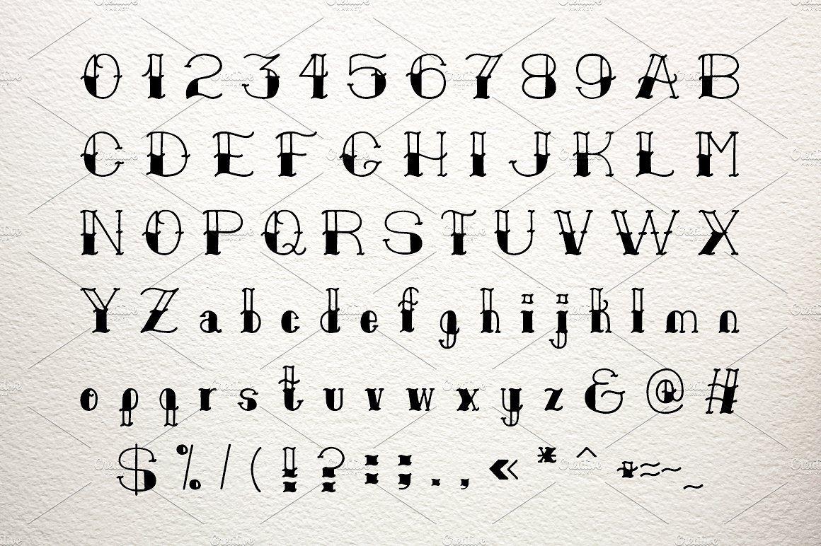 Old School Font Old School Fonts Tattoo Lettering Fonts
