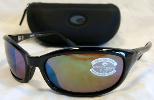 aa5d3be485cd7 Sunglasses 79720  Costa Del Mar Harpoon Sunglasses - Black Frame Green  Mirror 580G Lens -