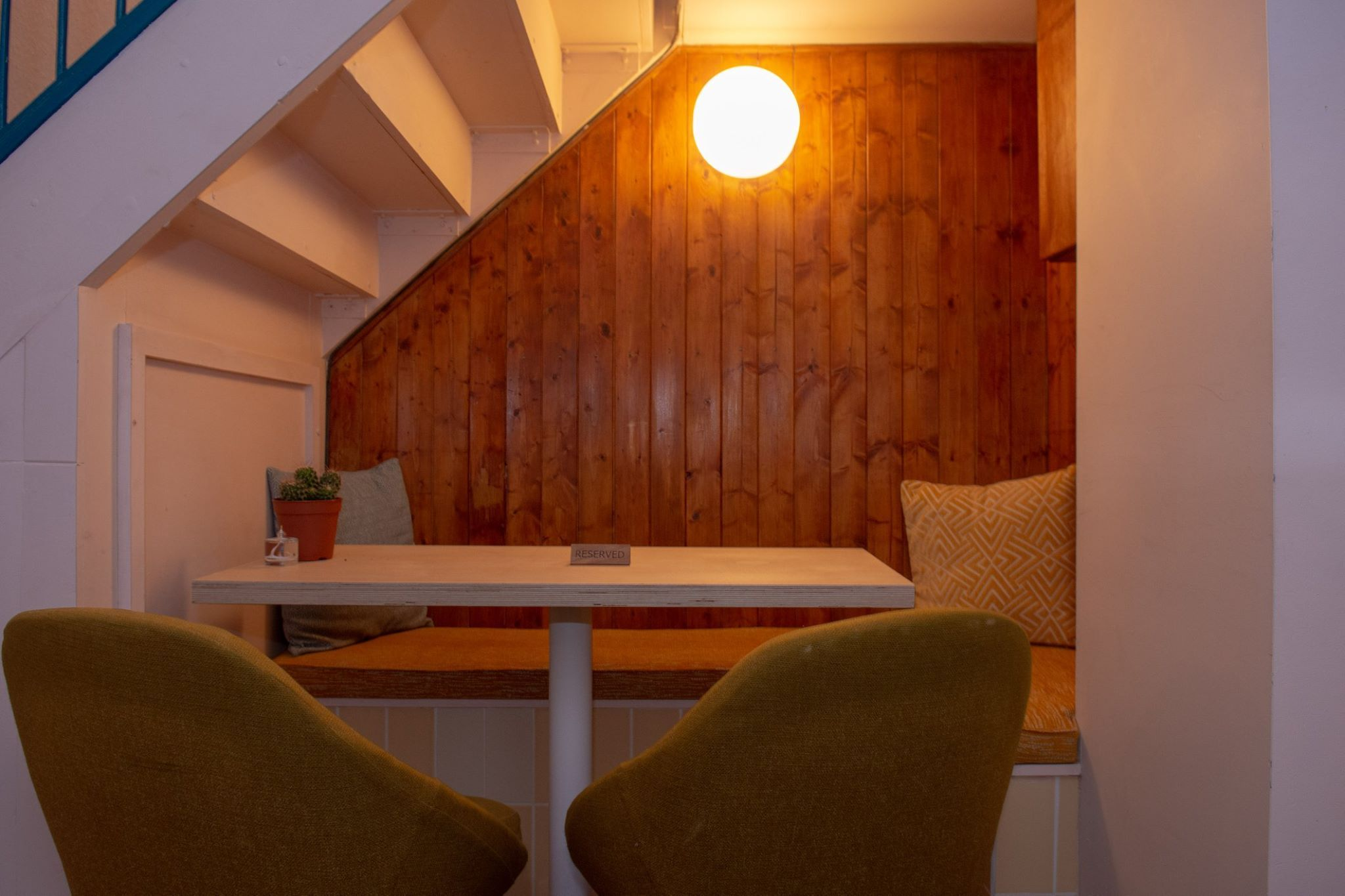 Dining Table With Built In Seating Under The Stairs In Our