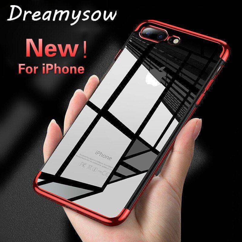 Kaufen Sie Jetzt Neue Luxus Weiche Tpu Fall Fur Iphone X Xs Xr Xsmax 6 S Plus 8 7 Plus 7 Plus Ultra Dunne Transparente Galvanik Iphone Iphone 7 Plus Telefon