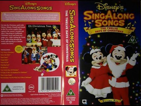 sing along songs the twelve days of christmas uk vhs 1994