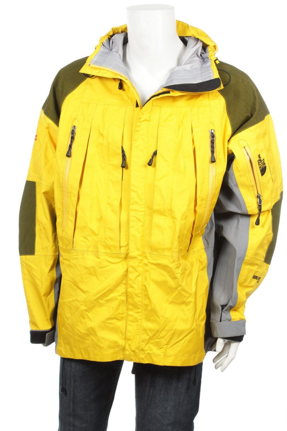 6a955f20b8 The North Face Summit Series Gore-Tex XCR Waterproof Hooded Jacket  yellow Black Men s XXL by VapeoVintage on Etsy