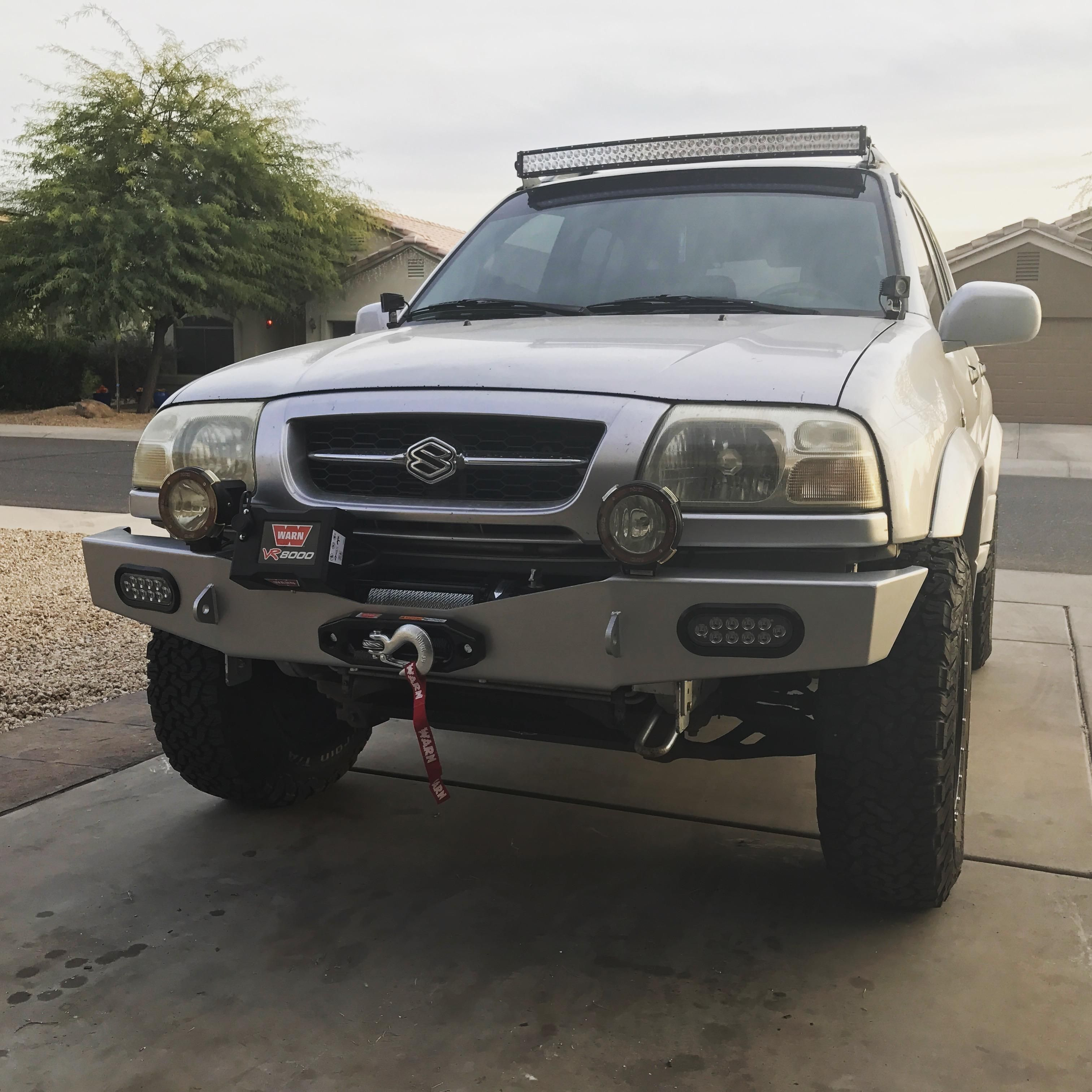 My Grand Vitara Looks A Little Better Now With The New Bumper 4x4 Offroad Grime Dubstep Grand Vitara Mercedes Benz Unimog 4x4