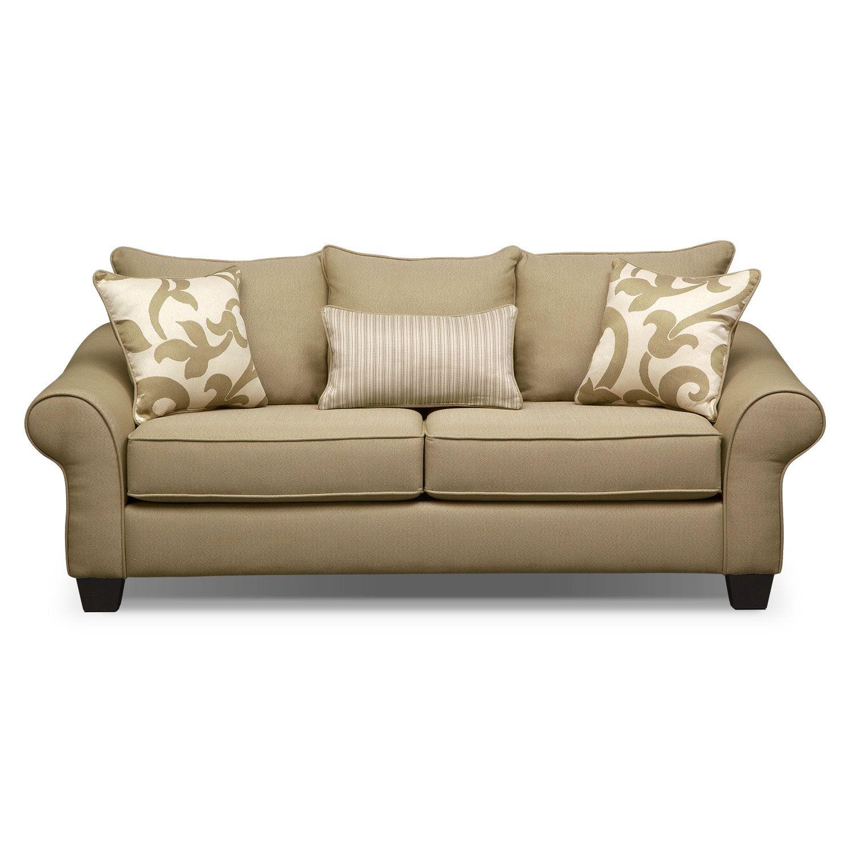 colette khaki full innerspring sleeper sofa value city furniture rh pinterest com