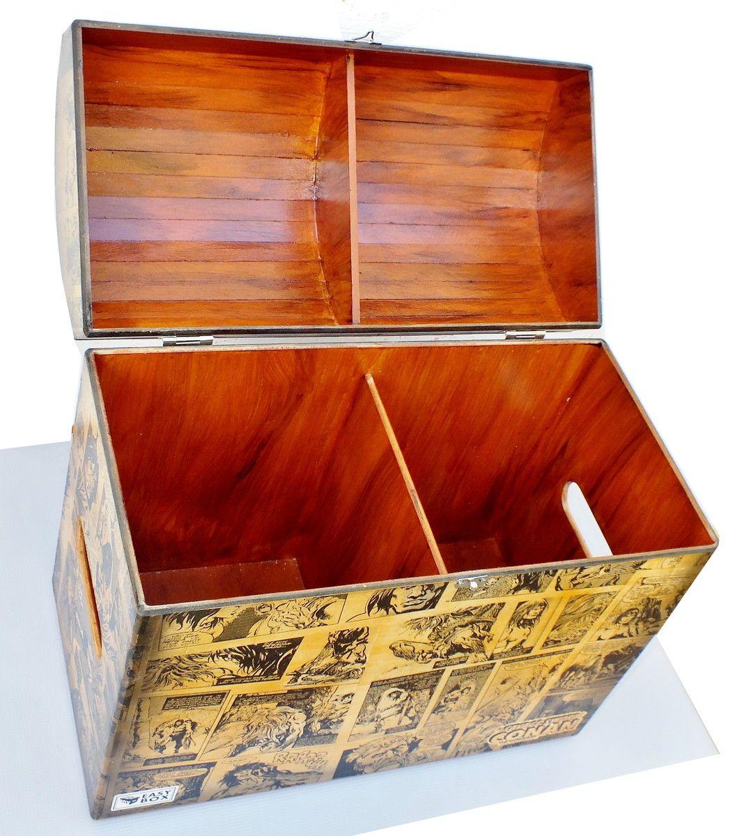 Caixa Baú MDF Hq's decorada Conan