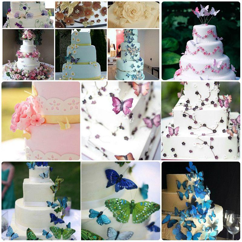 Schmetterling Dekoration Hochzeit Hochzeitskuchen