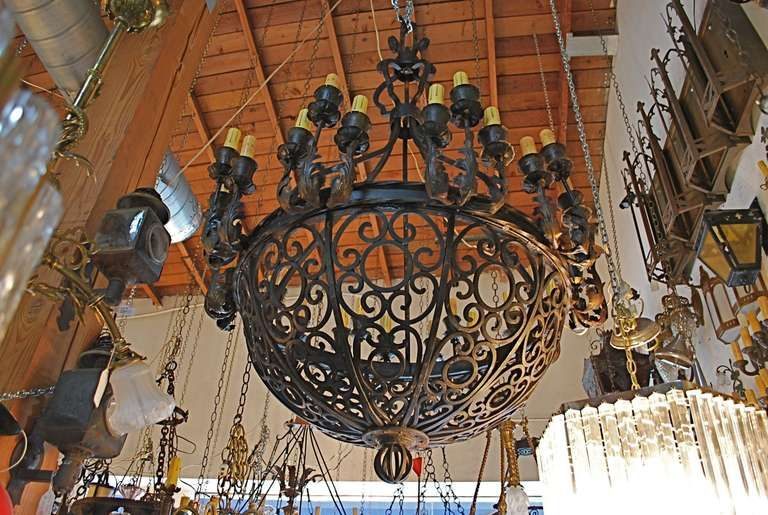 Antique iron chandelier pinterest iron chandeliers antique iron antique forged iron chandeliers in spanish colonial style from mexico mycustommade forgediron ironchandelier mozeypictures Images