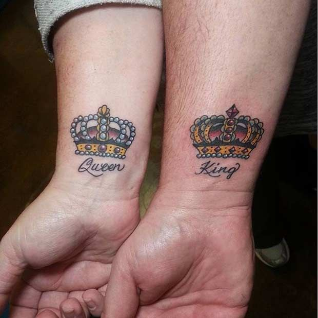 51 King And Queen Tattoos For Couples Tattoos Queen Tattoo