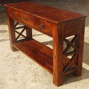 >Oklahoma Farmhouse 3 Drawer Console Table