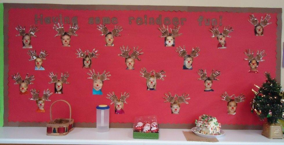 preschool bullentin board ideas | Reindeer Fun December Bulletin Board - MyClassroomIdeas.com #decemberbulletinboards