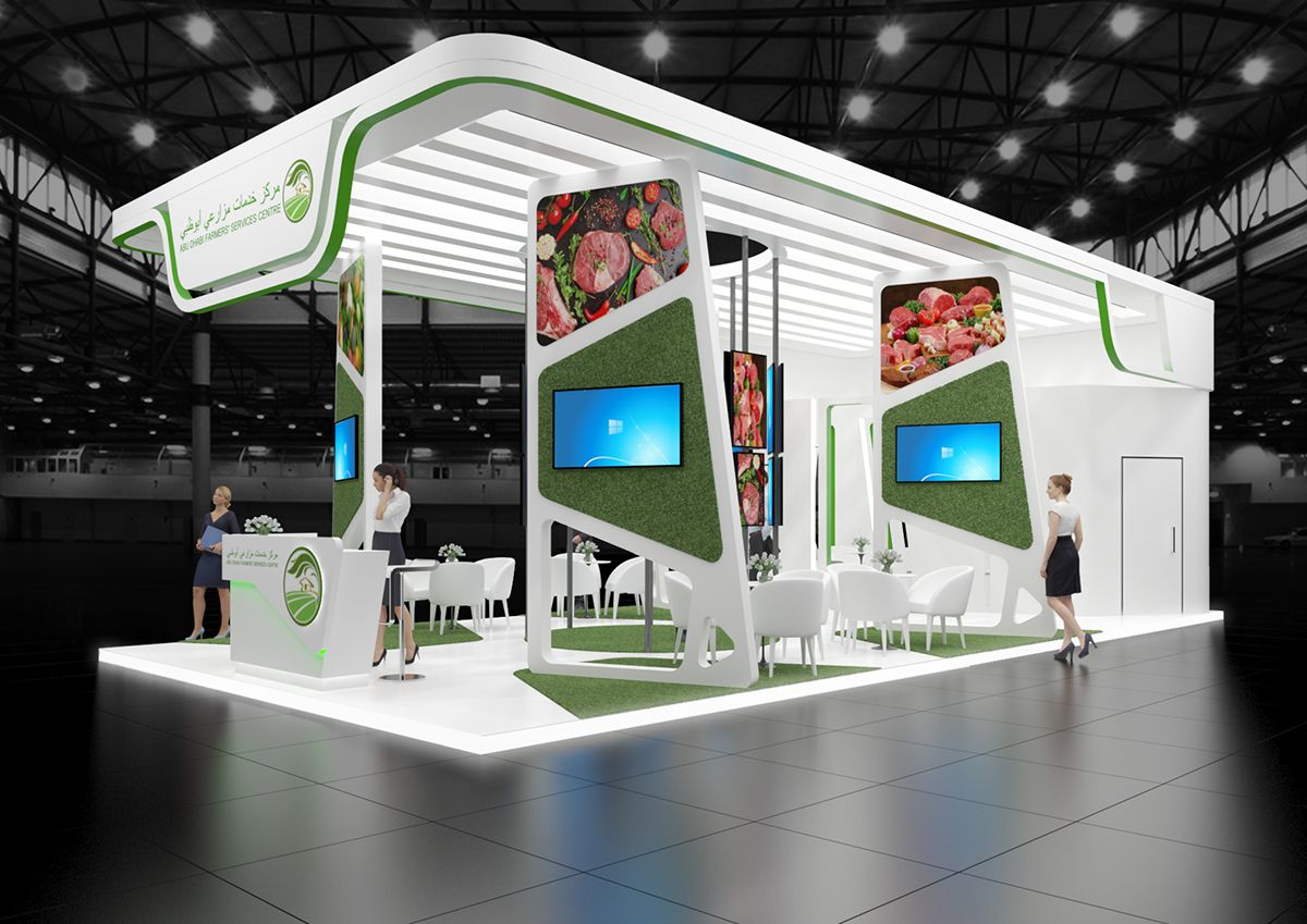 Exhibition Stand Services : Exhibition stand abu dhabi farmers services centre on behance