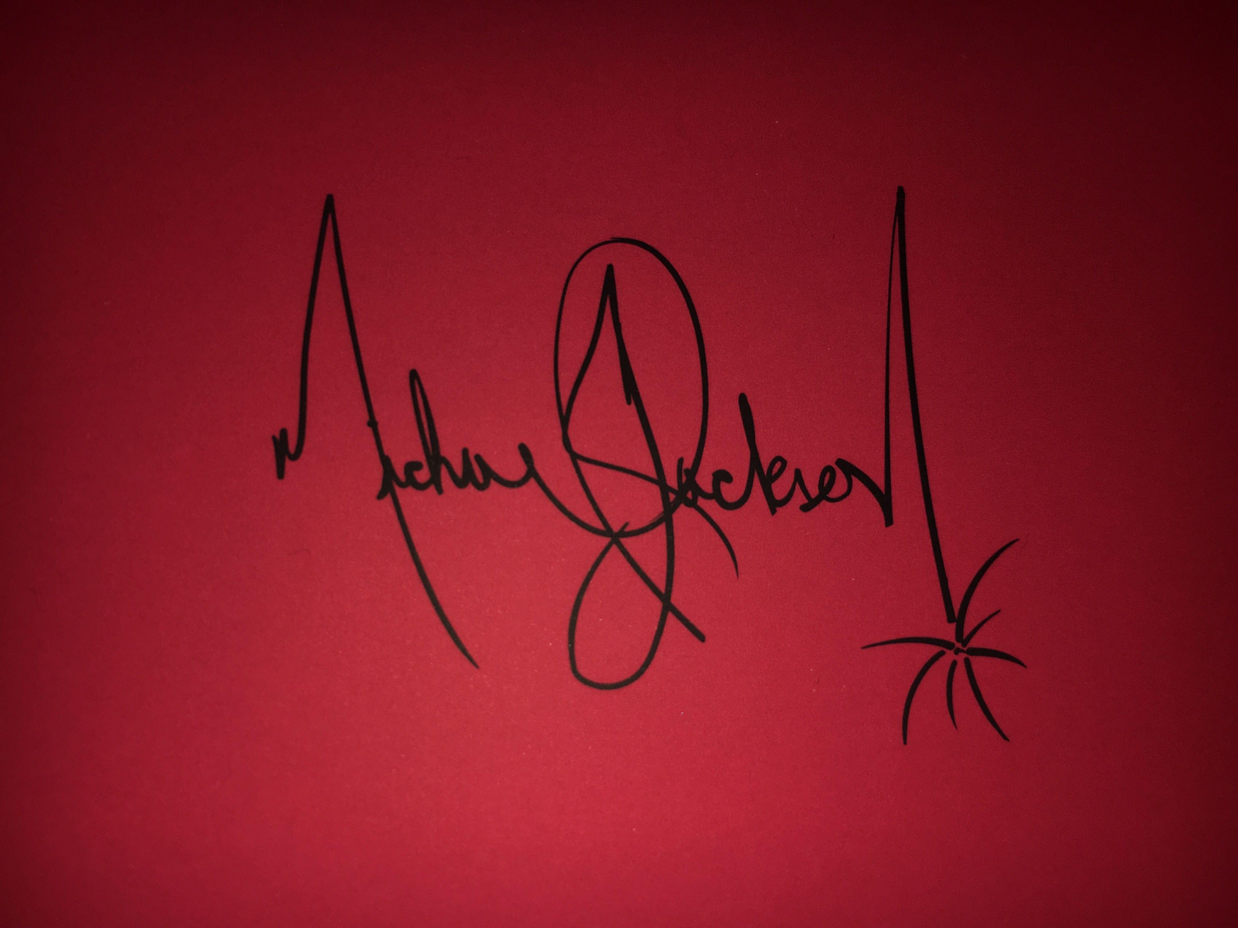 +Autogramm+ ++POP Legende Michael Jackson +