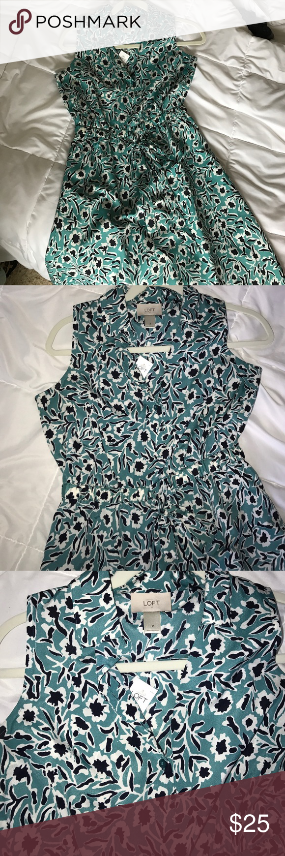 NWT- Ann taylor loft dress Super cute - cinches in the middle with a tie LOFT Dresses Mini