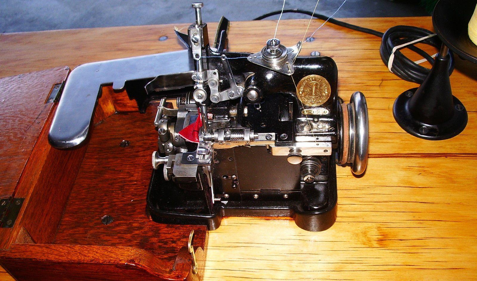 pristine antique singer 81 2 industrial overlock serger. Black Bedroom Furniture Sets. Home Design Ideas