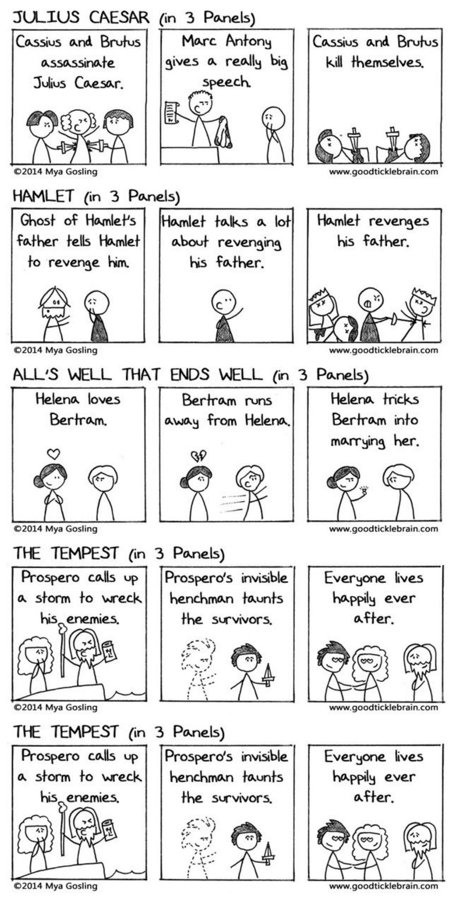 Do You Want To See All Of Shakespeare S Plays In Three Panel Comics