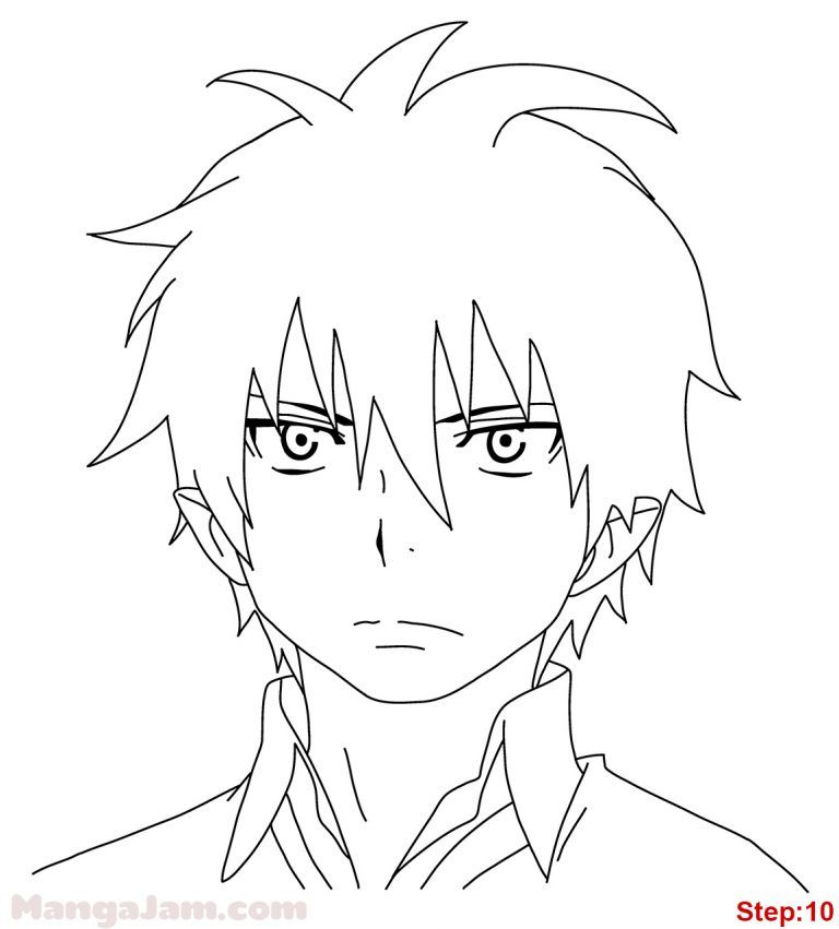 How To Draw Rin Okumura From Blue Exorcist Mangajam Com Blue Exorcist Rin Okumura Blue Exorcist Rin