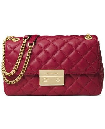 819a821f75e9 Large Sloan Cherry Chain Shoulder Red Lamb Leather Cross Body Bag ...