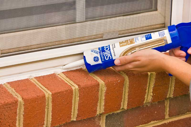 Seal all exterior and interior window & door trim with